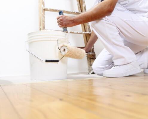 Bild zeigt Maler in Aktion